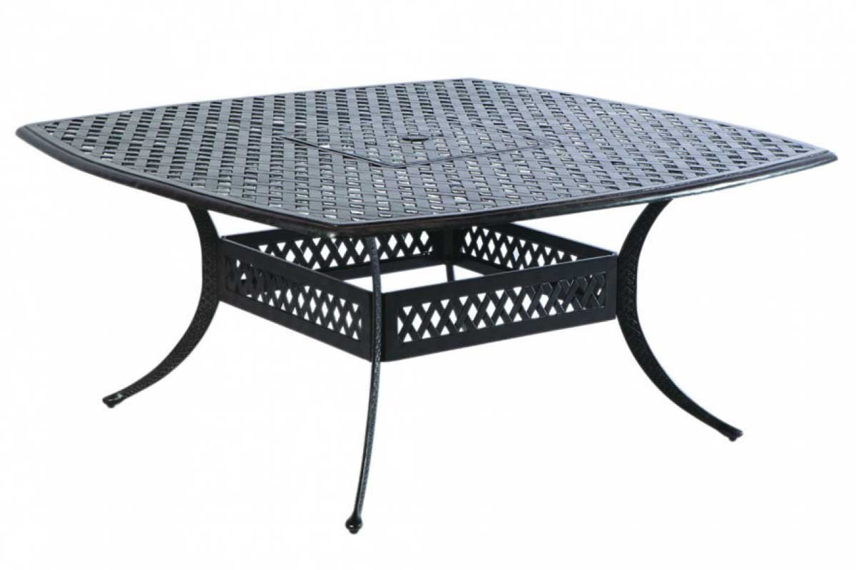 Lattice Cast Aluminum Dining Set