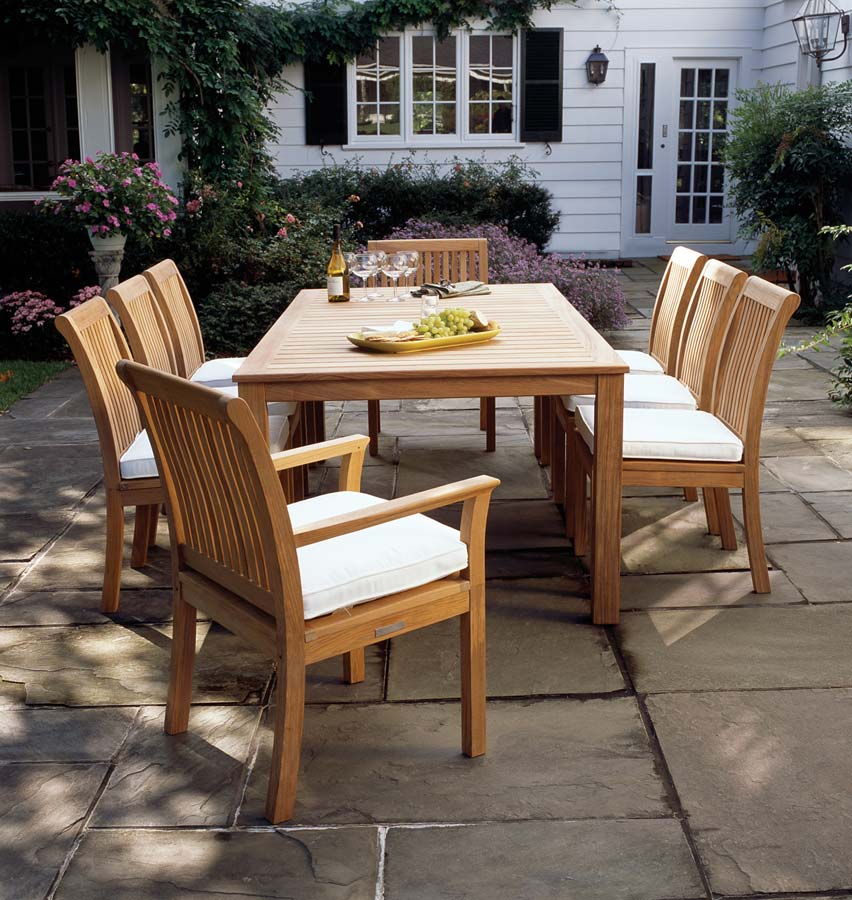 Kingsley Bate Chelsea Teak Dining Set Seasonal Specialty