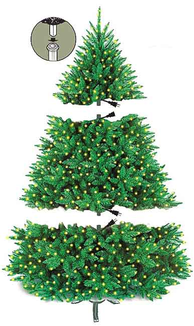 Just fold down and shape branches and your new tree is ready to decorate. - Artificial Christmas Trees - Seasonal Specialty Stores, Foxboro
