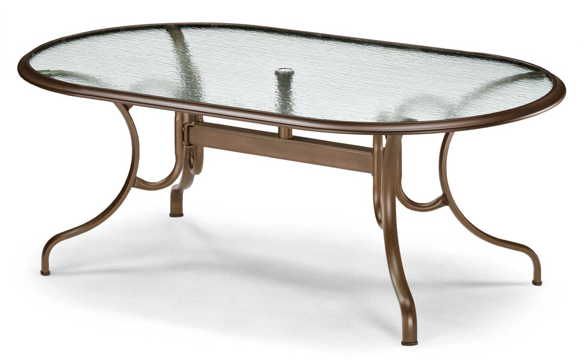 Telescope Casual 43 X 75 Oval Glass Top Dining Table