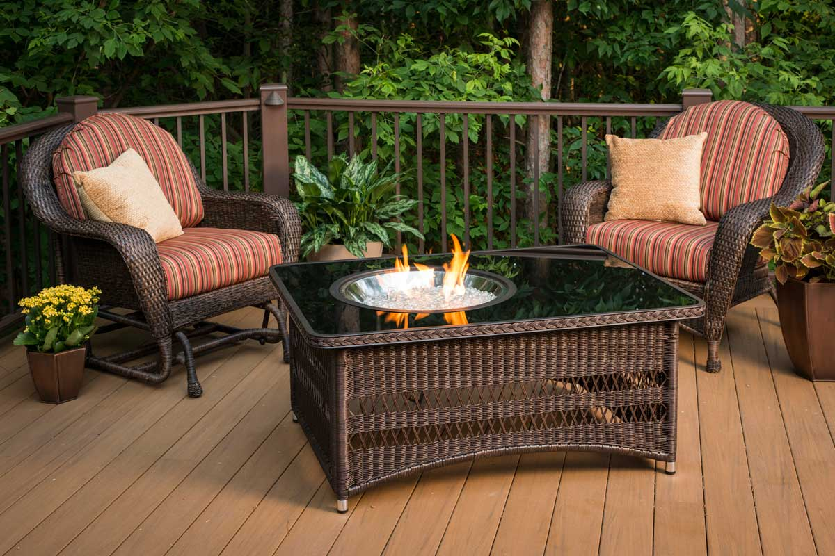 The Outdoor Greatroom Company Naples Rectangular Gas Fire